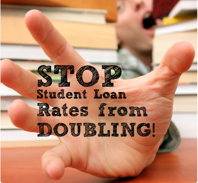 Without intervention yesteryear Washington lawmakers Student Loan Rates To Double